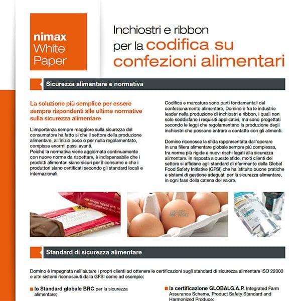 WhitePaper inchiostri alimentari