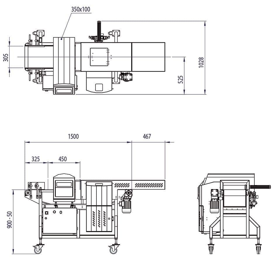 Caratteristiche Tecniche Sistema Metal Detector Loma IQ4