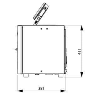 Marcatore Inkjet a goccia continua Domino Ax350i - Vista laterale