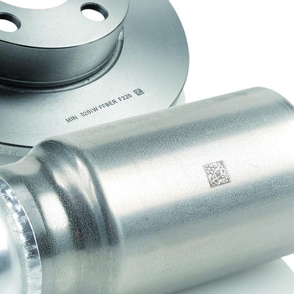 Marcatura laser su metallo - Marcatore laser Domino F220i