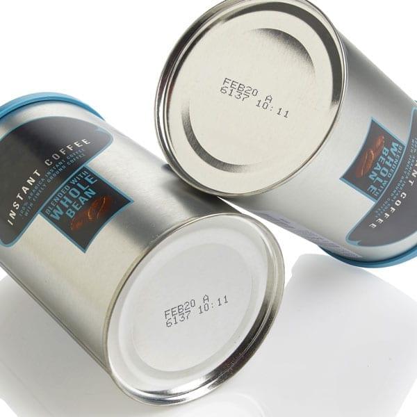 Marcatura su barattoli di caffè - Marcatore inkjet a goccia continua Domino Ax350i