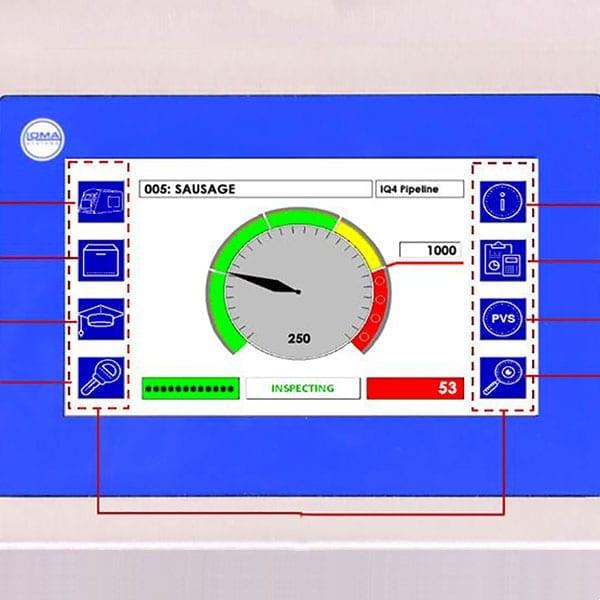 Sistema Metal Detector Loma IQ4 Waferthin - Interfaccia utente