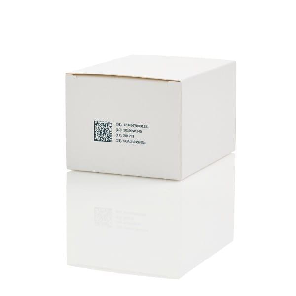 Esempio Stampa Domino Serie Gx Codifica stampa su cartone - codifica scatole - imballo secondario