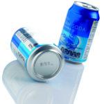 marcatura su lattine in alluminio per bevande