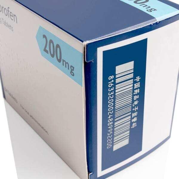 Marcatura Laser su imballaggi secondari in cartone per prodotti farmaceutici