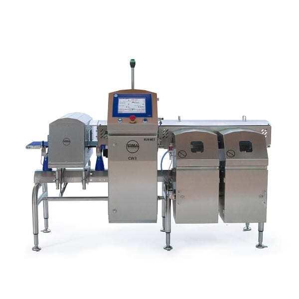 Sistema Combinato Loma RUN-WET metal detector verifica peso