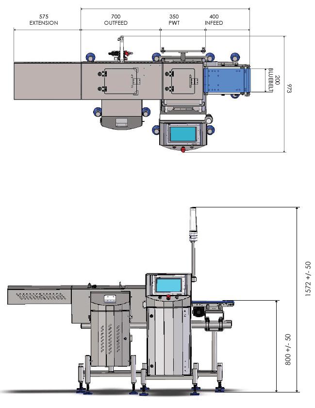 Specifiche Tecniche Selezionatrice Ponderale Sistema di verifica peso Loma CW3